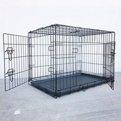 """(NEW) $45 Folding 36"""" Dog Cage 2-Door Pet Crate Kennel w/ Tray 36""""x23""""x25"""" for Sale in Whittier,  CA"""
