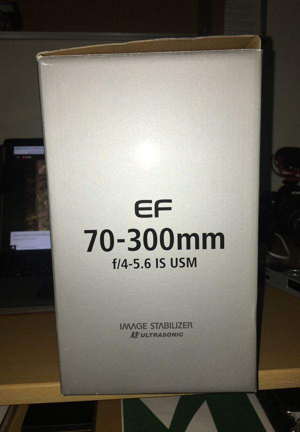 Brand new Canon 70-300 mm F/4-5.6 IS USM