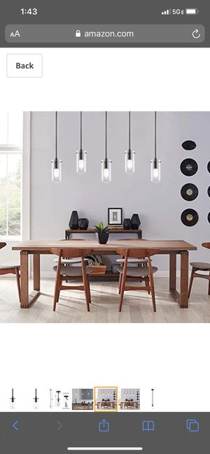 Three Black Pendant Lights (Unopened) for Sale in Chicago, IL