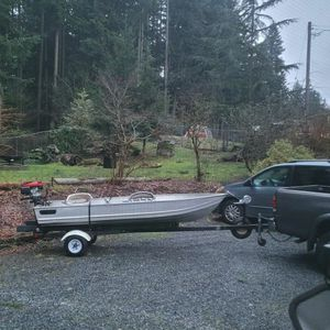 Aluminum GameFisher 11 F. Boat And 2 Motors for Sale in Buckley, WA