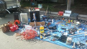 Tools..heaters..fireplace..kenwood...air compressor..submersible deep well pump for Sale in Fresno, CA