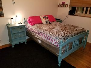 Full size Headboard, frame, footboard for Sale in Brighton, CO