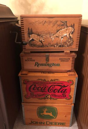 Wooden decor boxes for games and storage for Sale in Valrico, FL