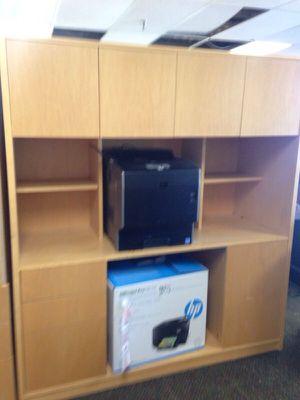 Tan Wood office desk for Sale in Caledonia, MI