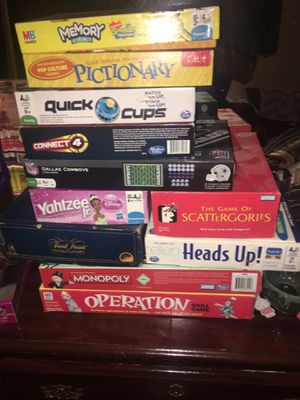 Kids and grown ups board games and puzzles for Sale in Dallas, TX