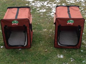 Pet club dog crates. Beautiful like new $25.00 a piece for Sale in Pine City, NY