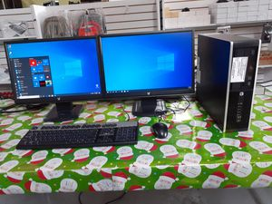Hp Compaq 6200Pro +Dual MONITORS SETUP Windows 10 Pro for Sale in Kennedale, TX