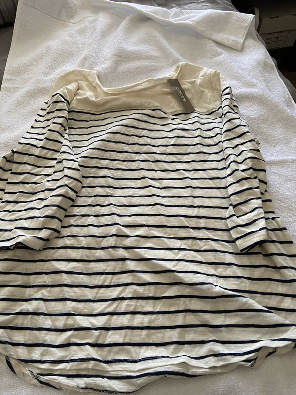 Striped blouse from CHICOS