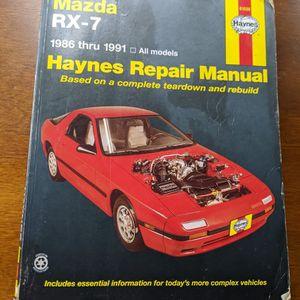 Mazda RX7 FC Haynes Repair Manual for 1986-1991 Mazda RX-7 - Shop Service Garage Book for Sale in Santa Clara, CA