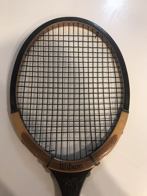 Vtg Wilson Advantage Wood Tennis Racket Racquet 4 1/2 M With Cover Strata Bow for Sale in Littleton, CO
