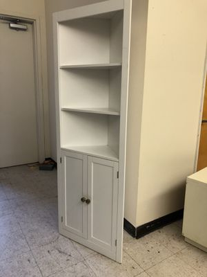 Corner bookcase storage shelves unit cabinet @BigWhaleConsignment GreenwoodSeattle for Sale in Seattle, WA