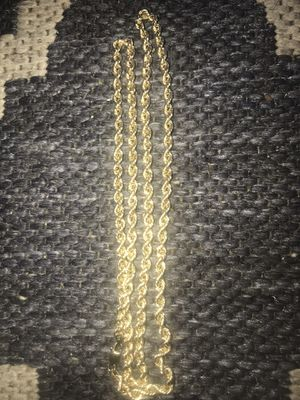 10k gold rope chain for Sale in Baldwin Hills, CA