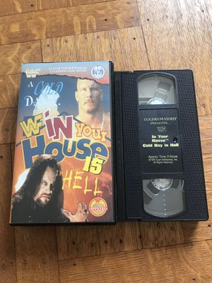 WWF IN YOUR HOUSE 15 1996 VHS TAPE COLISEUM VIDEO WCW WWE for Sale in CAPE ELIZ, ME