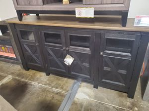 Extra Large TV Stand, Dark Grey for Sale in Westminster, CA