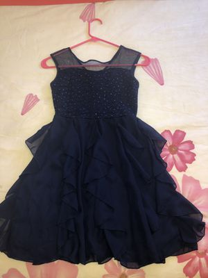 Navy dress for Girls size 8. Good conditions used once for Sale in Addison, IL