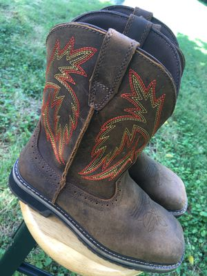 Western Steal toe boots   Mens - Size 9 for Sale in Rockville, MD