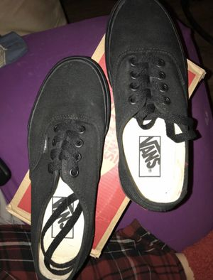 Vans authentic black & black shoes for Sale in Edgewood, NM