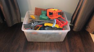 Huge bucket of Thomas tracks with two motorized trains and tons of tracks for Sale in La Vergne, TN
