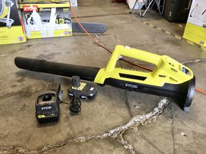 RYOBI ONE+ 90 MPH 200 CFM 18-Volt Lithium-Ion Cordless Leaf Blower/Sweeper - 2.0 Ah Battery and Charger Included for Sale in Garden Grove, CA