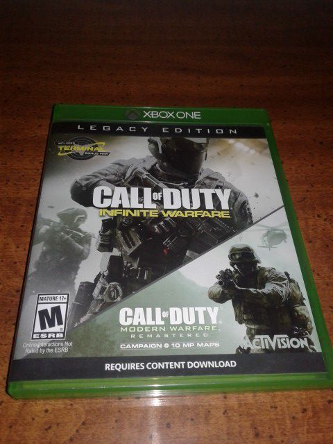 2 in 1 Call of Duty Legacy Edition: Infinite Warfare and Modern Warfare Remastered