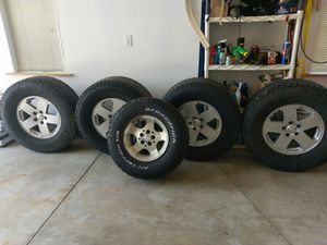 Rims and Tires for jeep wrangler for Sale in Lyman, ME