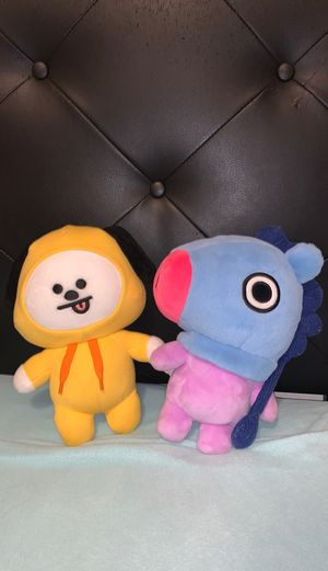 BTS Mang and Chimmy Plushies for Sale in Fort McDowell, AZ