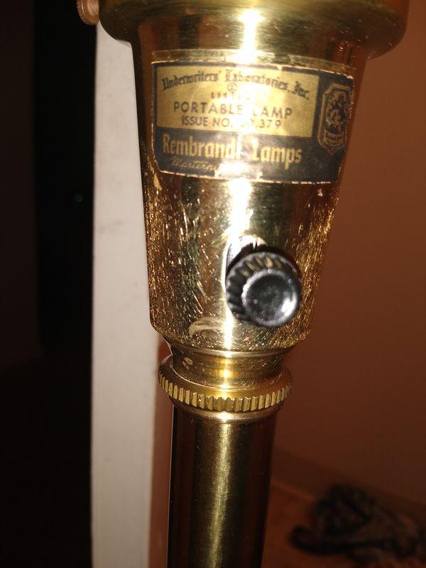 Vintage brass lamps