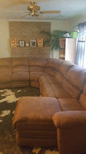Brown Sude 4-Piece Sectional Sofa for Sale in Richmond, VA