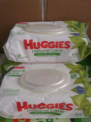 Huggies natural care wipes - unscented 64 counts for Sale in Norwalk, CA