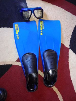 U.S diving fins 9-11 and mask for Sale in Kissimmee, FL