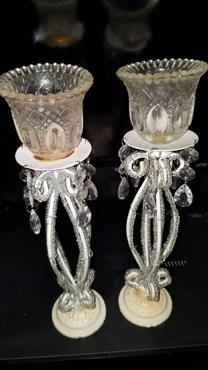 CANDLE HOLDERS, SHABBY CHIC' PAIR for Sale in Redlands, CA