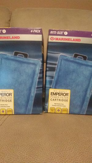 Marineland Size E filters for Sale in Garland, TX