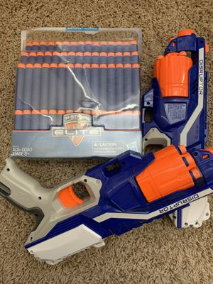 Nerf guns and 60 bullets for Sale in San Bernardino, CA