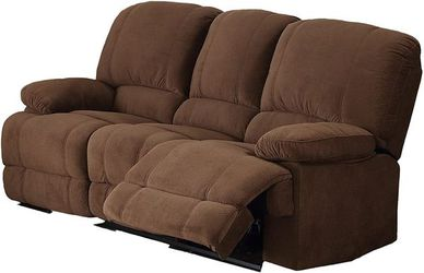 Christies Home Living Kevin Fabric Contemporary Reclining Sofa, Brown for Sale in Cleveland,  OH