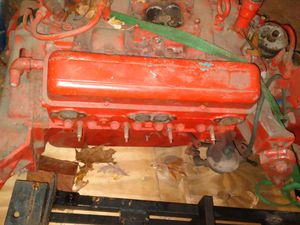 Chevy 283 boat motor late 50's to early 60's with reduction drive gear transmission for Sale in Florissant, MO