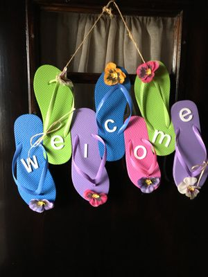 Flip Flop Welcome Sign for Sale in Morton, IL