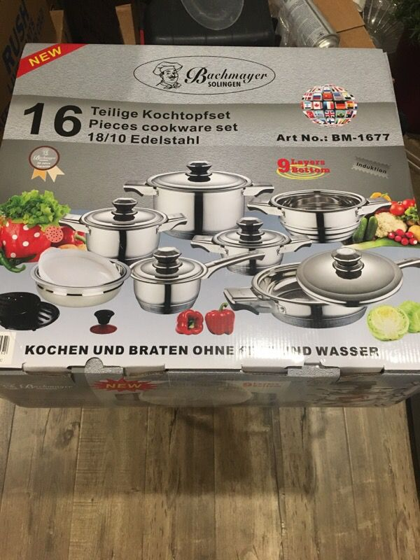 Brand New - BACHMAYER SOLINGEN 16 pieces Cookware  Original price $400 for  Sale in Los Angeles, CA - OfferUp