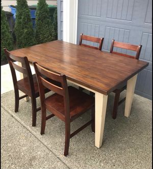 Beautiful wooden dining table and chairs for Sale in Vancouver, WA