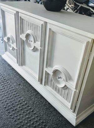 Buffet white credenza dresser sideboard tv stand television console media for Sale in Chandler, AZ