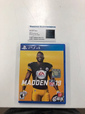 Madden 19 PS4 for Sale in Pittsburgh, PA