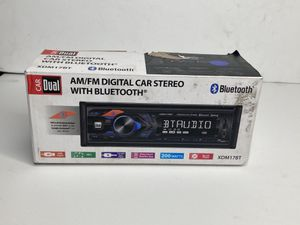 Dual Electronics XDM17BT High Resolution LCD Single DIN Car Stereo Receiver with Built-In Bluetooth, USB, MP3 Player & Siri/Google Assist Button for Sale in Orlando, FL