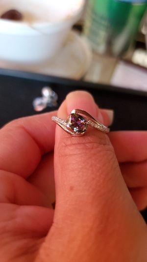 Rainbow topaz sterling silver ring with cz for Sale in Los Angeles, CA
