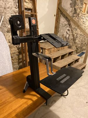 WorkFit-S Dual Monitor Sit-Stand Workstation for Sale in Boston, MA