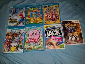5 wiiu & 2 wii Nintendo games ( Selling Altogether) for Sale in Norcross, GA