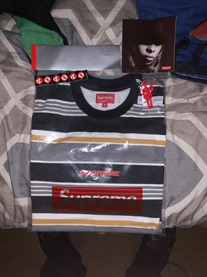 Supreme Stripe Logo S/S for Sale in Imperial, MO