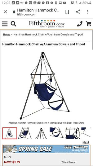 Indoor out door hammock chair for Sale in Corning, NY
