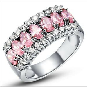 *NEW ARRIVAL* Beautiful Pink White Sapphire 925 Stamped Eternity Ring Size 6 - 10 *See My Other 500 Items* for Sale in Palm Beach Gardens, FL