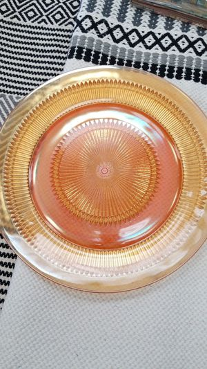 Carnival glass peach platter, 13 inch diameter for Sale in Norwalk, CA