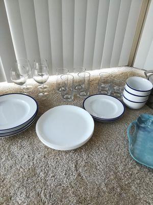 Dinner set+ glasses set+ pans + pots+ serving tray+wine glasses for Sale in Washington, DC