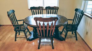 Windsor Farmhouse Dining Room Kitchen Table - 6 Chairs for Sale in Tacoma, WA